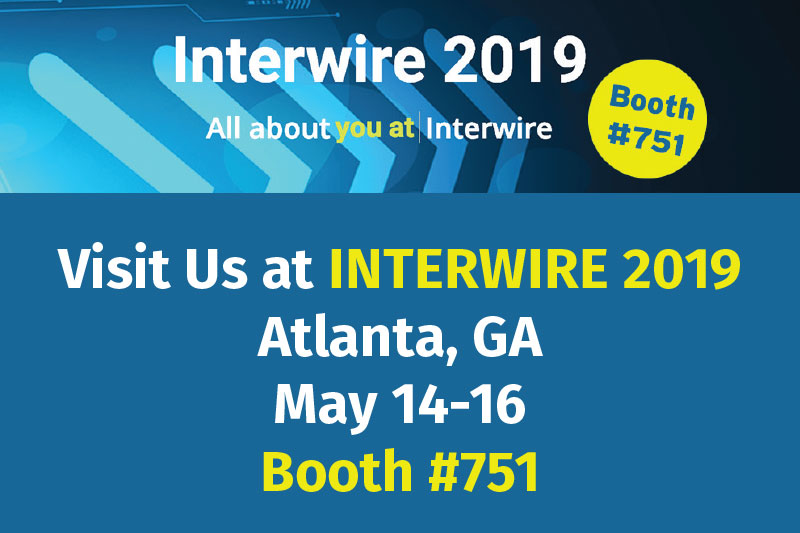 InterWire 2019 is almost here and Sjogren Industries would love to see you.
