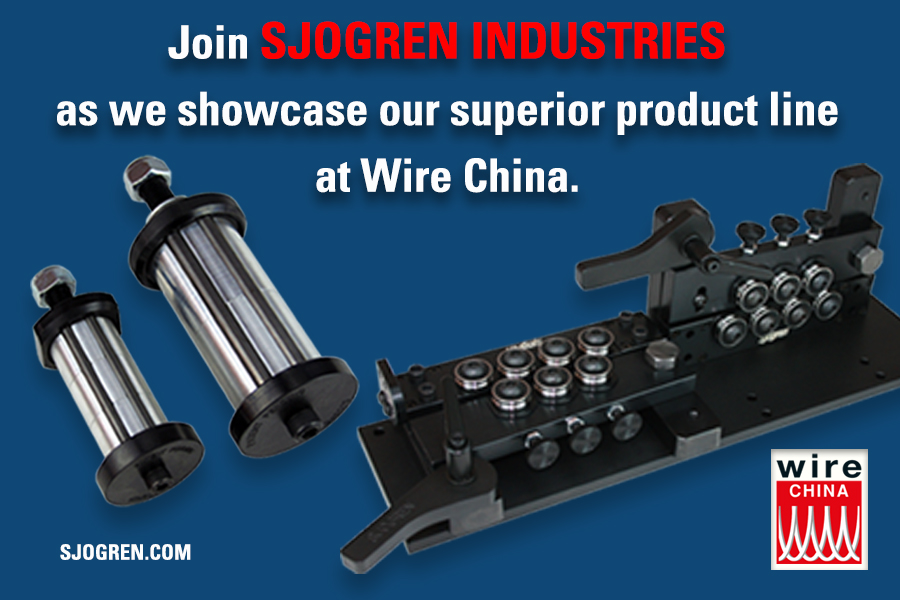 Join Sjogren Industries as we showcase our superior product line at Wire China.