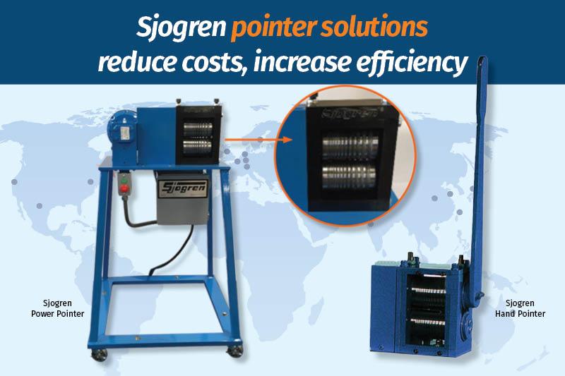 Sjogren pointer solutions reduce costs, increase efficiency